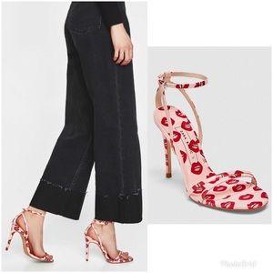 Zara | Kiss Love Stiletto Heels Pink Red 7.5 (38)